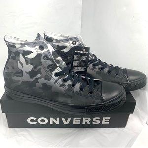 Converse Chuck Taylor Black White Camo Hi Top